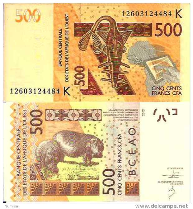 Sénégal 500 FRANCS Pick New (2012) NEUF - Sénégal