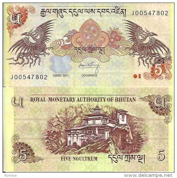 Bhoutan - Bhutan - 5 NGULTRUM (2011) Pick 36 UNC - Bhoutan