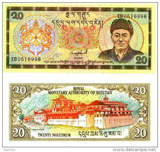 Bhoutan - Bhutan -  20 NGULTRUM (1992) Pick 16b UNC - Bhoutan