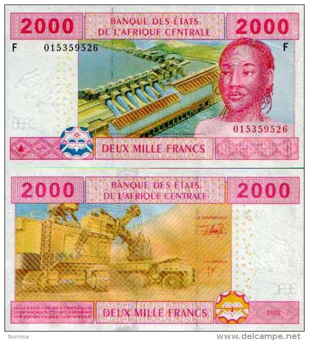Central Africa States - Guinea -Guinée-Equatoriale 2000 FRANCS (2002) Pick 508F UNC - Guinée Equatoriale