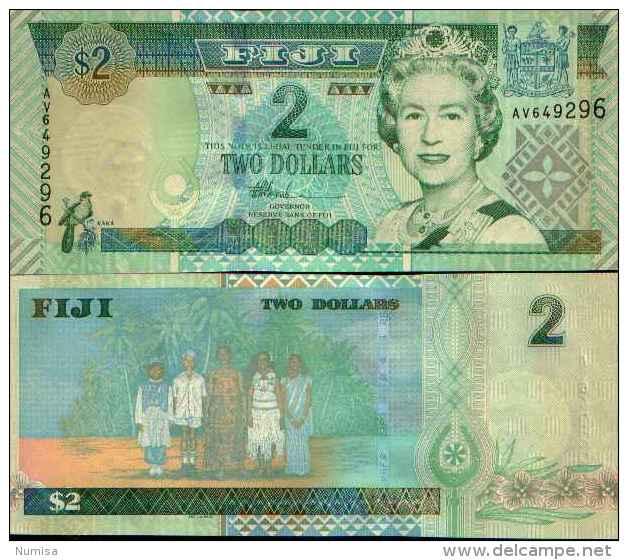 Fiji - Fidji (îles) 2 DOLLARS (2002) Pick 104a NEUF - UNC - Fiji
