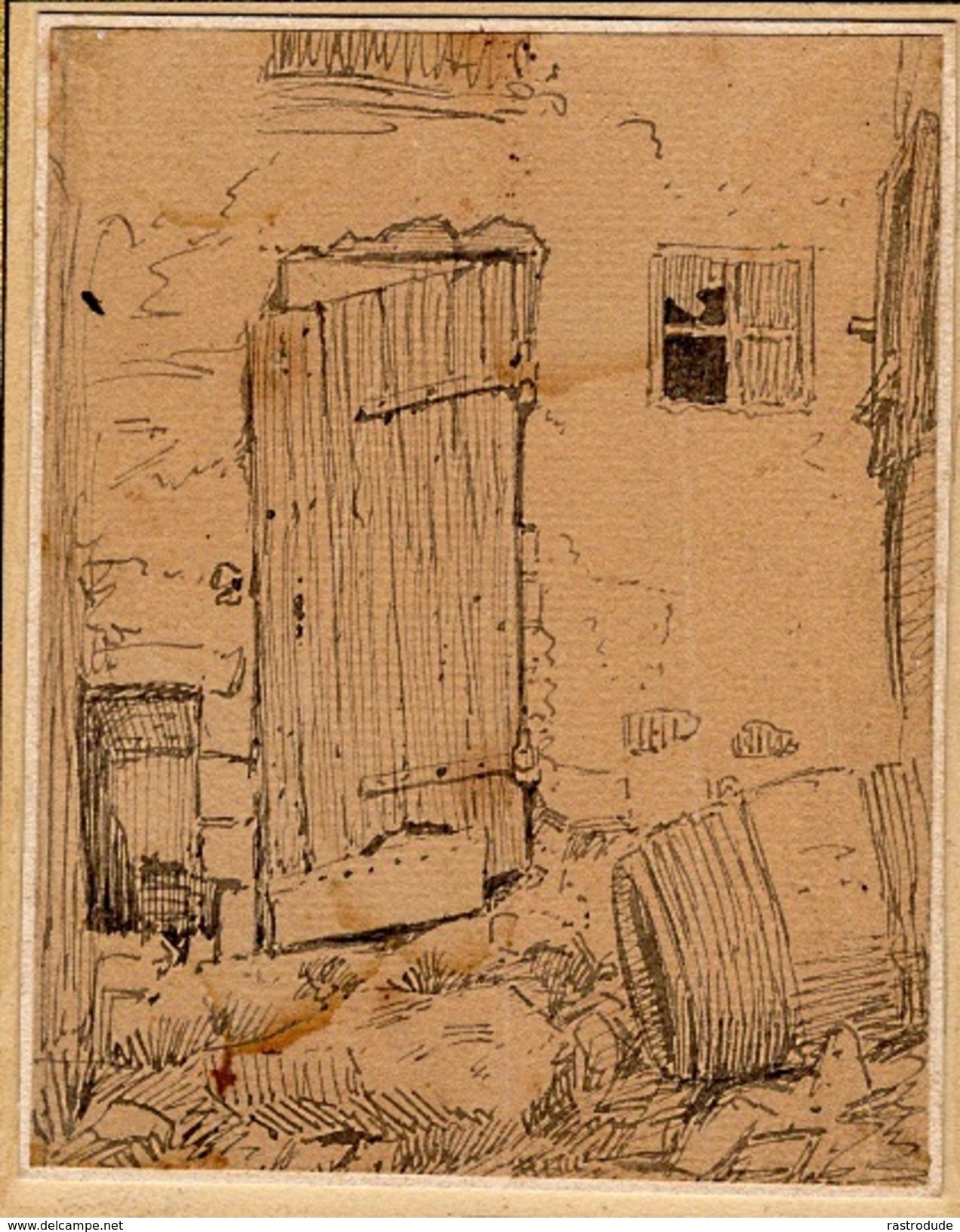 XIX -  J.J VEYRASSAT - Ink Drawing - Dessin Encre - Drawings
