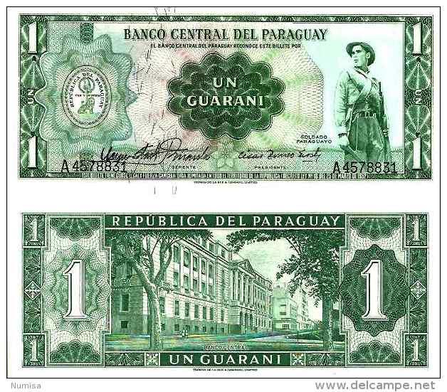 Paraguay 1 GUARANI (L 1952) - Pick 192 UNC - Paraguay