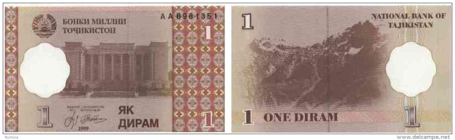 Tadjikistan 1 DIRAM Pick 10 NEUF - Tadjikistan