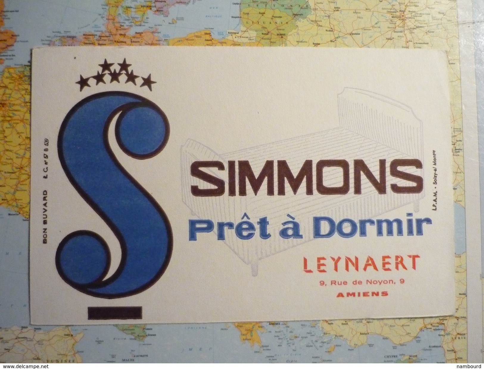 Simmons Prêt à Dormir Leynaert Amiens 1 - Buvards, Protège-cahiers Illustrés