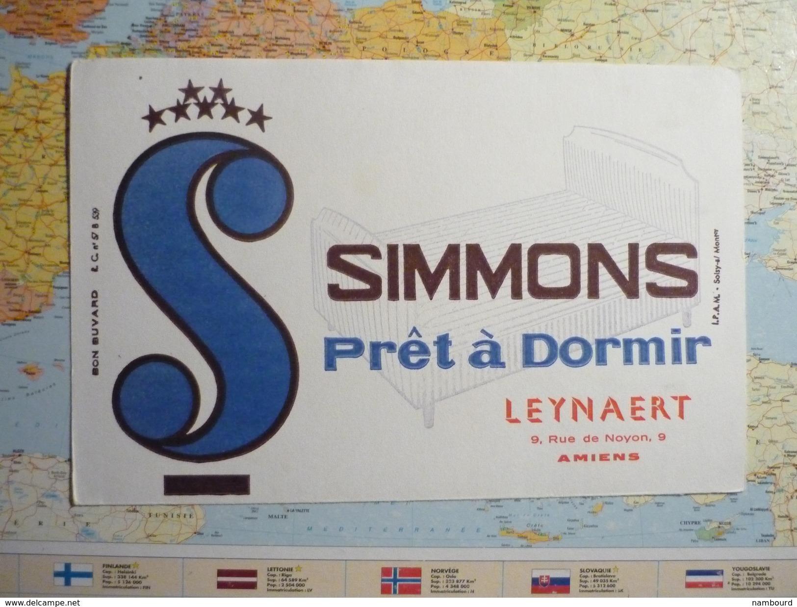 Simmons Prêt à Dormir Leynaert Amiens 2 - Buvards, Protège-cahiers Illustrés
