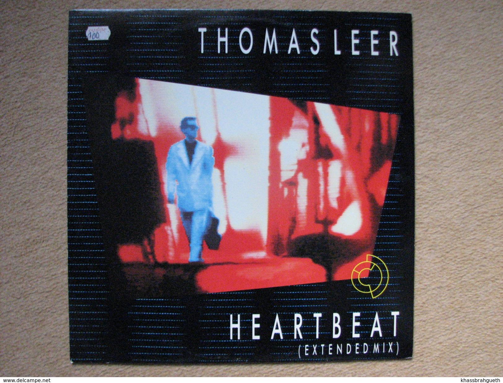 THOMAS LEER - HEARTBEAT - MAXI (ARISTA RECORDS 1985) - 45 T - Maxi-Single