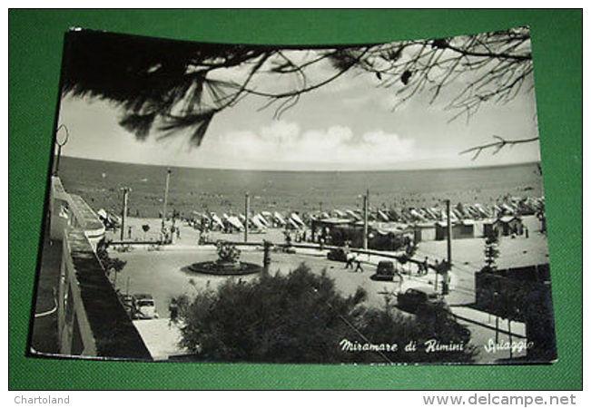 Cartolina Miramare Di Rimini - Spiaggia 1955 - Rimini