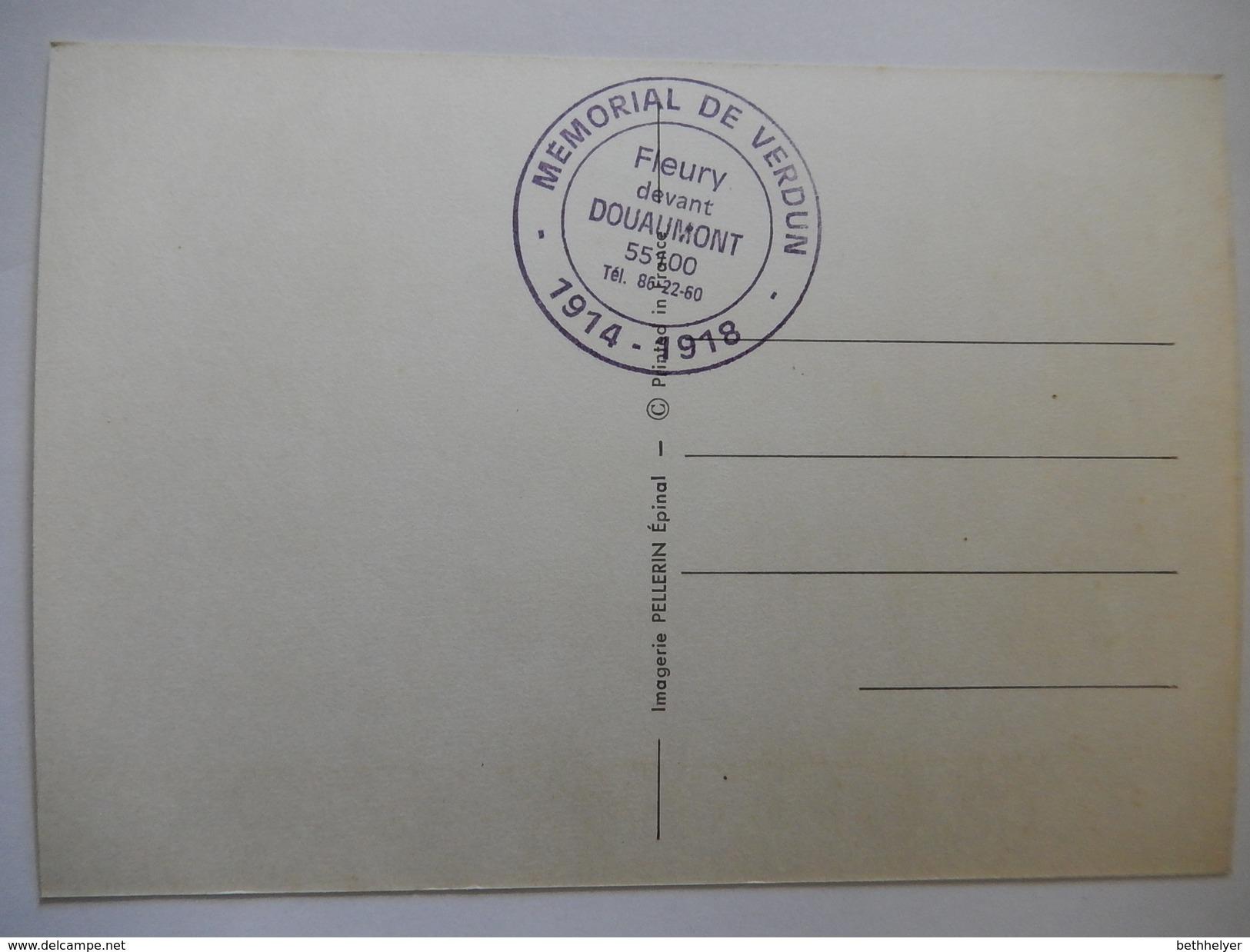 CPSM - GUERRE 1914-1918 : INFANTERIE FRANCAISE - MEMORIAL DE VERDUN - OBLITERATION MEMORIAL DE VERDUN  - R2184 - War 1914-18