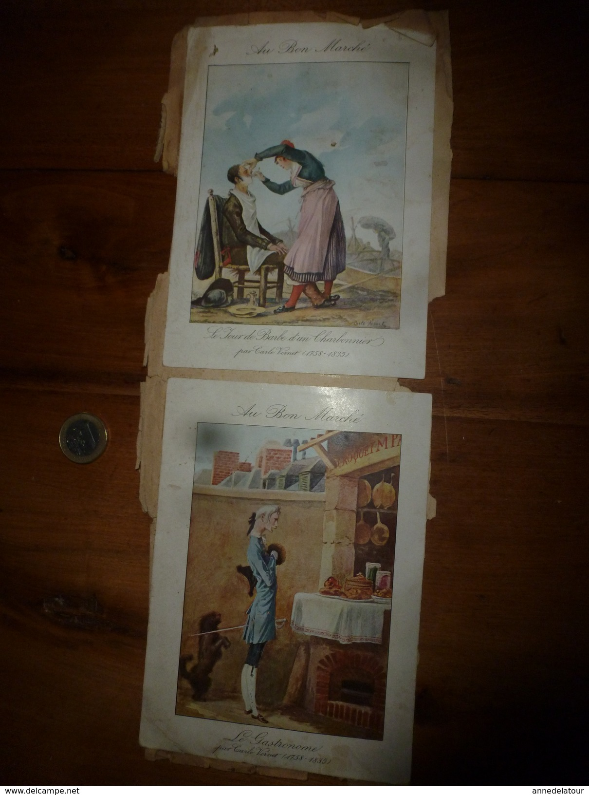"""Années 1889-1900 : 2 Images   """"AU BON MARCHE """" - Vieux Papiers"""