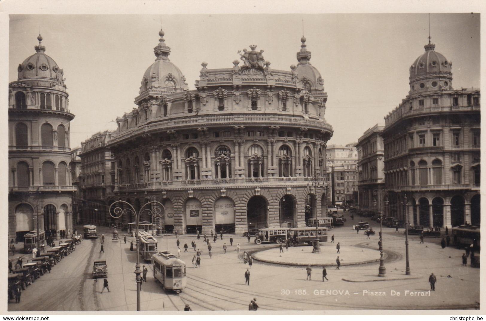 Italy, Genova, Piaza De Ferrari, Tram, Tramways (pk36538) - Non Classés