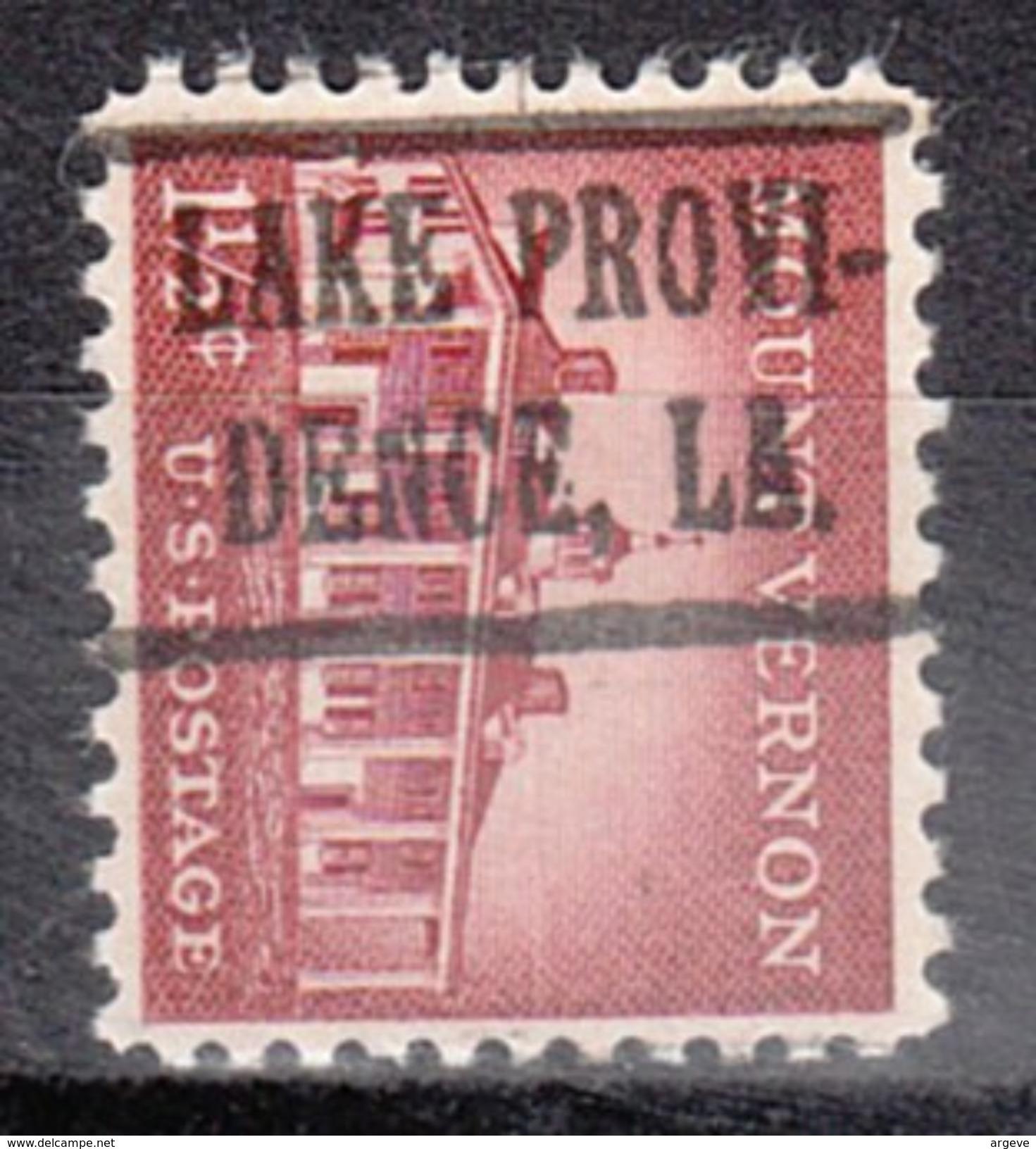 USA Precancel Vorausentwertung Preos Locals Louisiana, Lake Providence 483 - Vereinigte Staaten