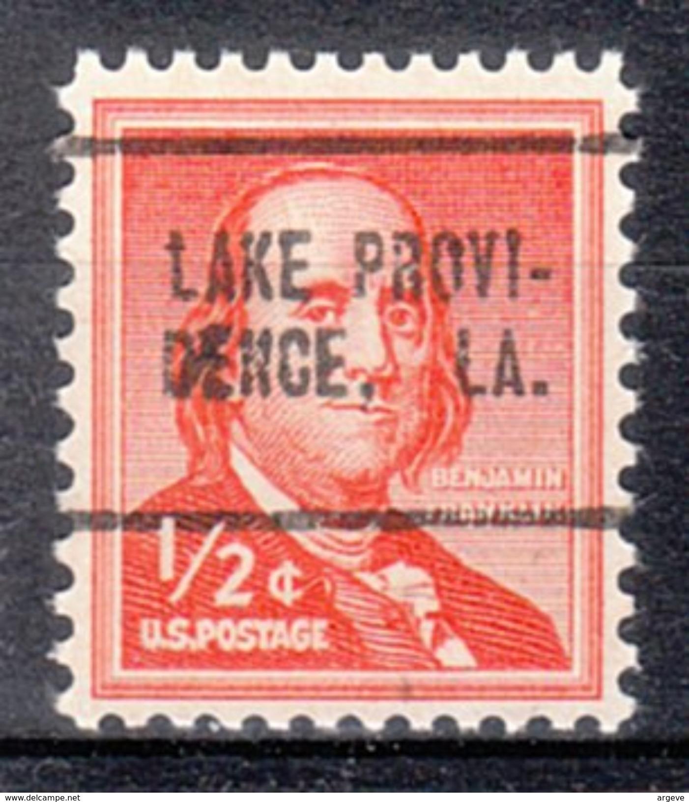 USA Precancel Vorausentwertung Preos Locals Louisiana, Lake Providence 705 - Etats-Unis