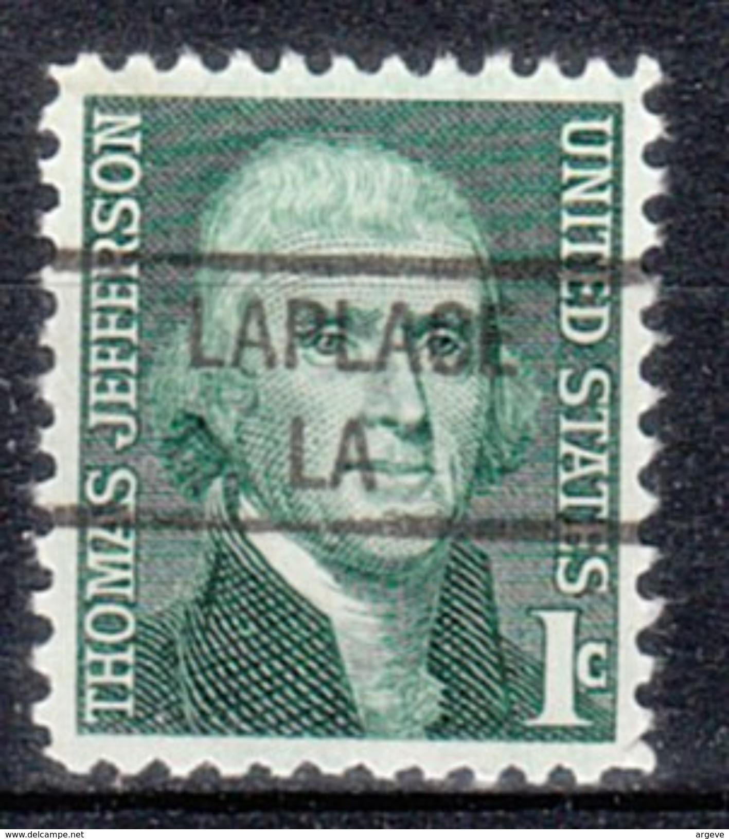 USA Precancel Vorausentwertung Preos Locals Louisiana, Laplace 841 - Vereinigte Staaten