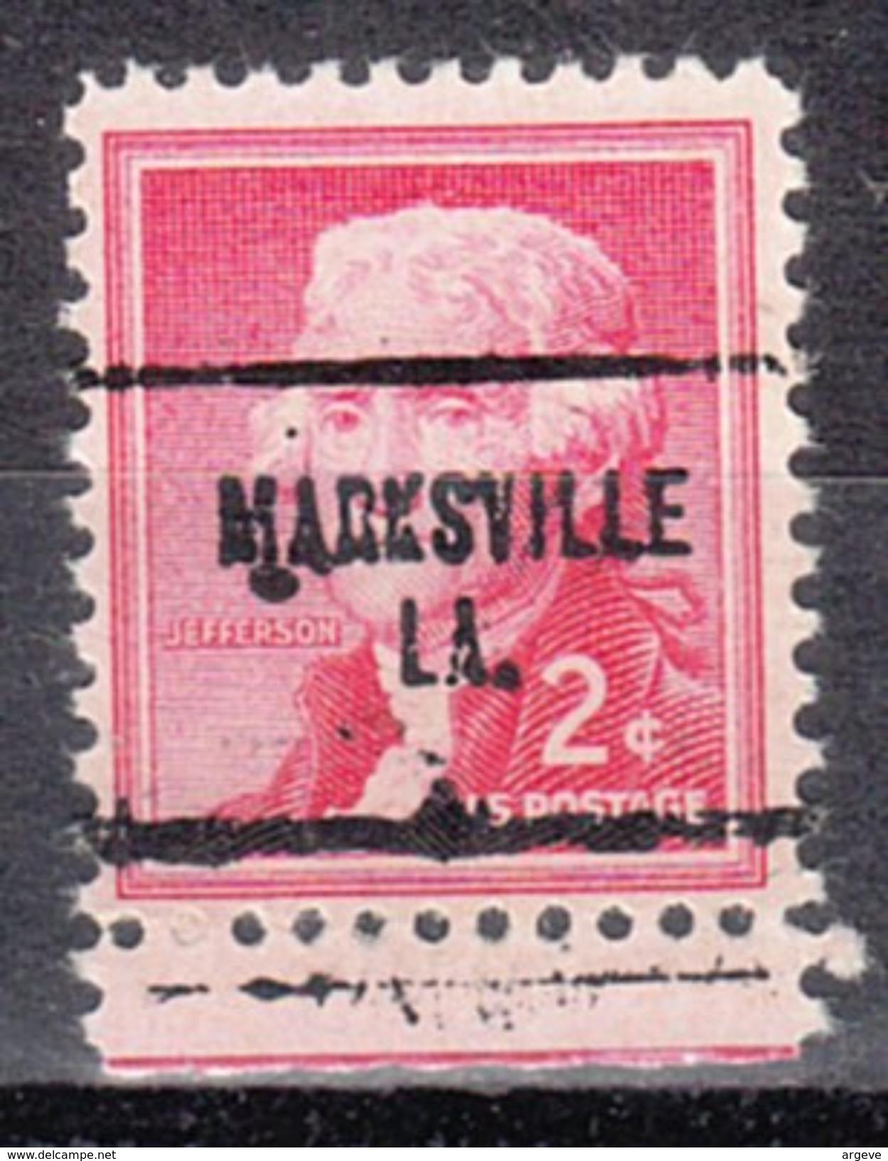 USA Precancel Vorausentwertung Preos Locals Louisiana, Marksville 704 - Vereinigte Staaten