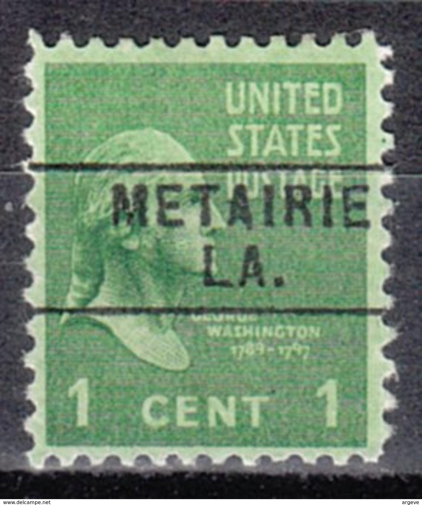USA Precancel Vorausentwertung Preos Locals Louisiana, Metairie 745 - Vereinigte Staaten