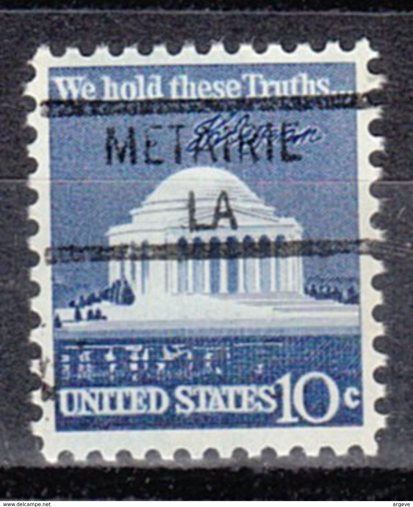 USA Precancel Vorausentwertung Preos Locals Louisiana, Metairie 841 - Vereinigte Staaten