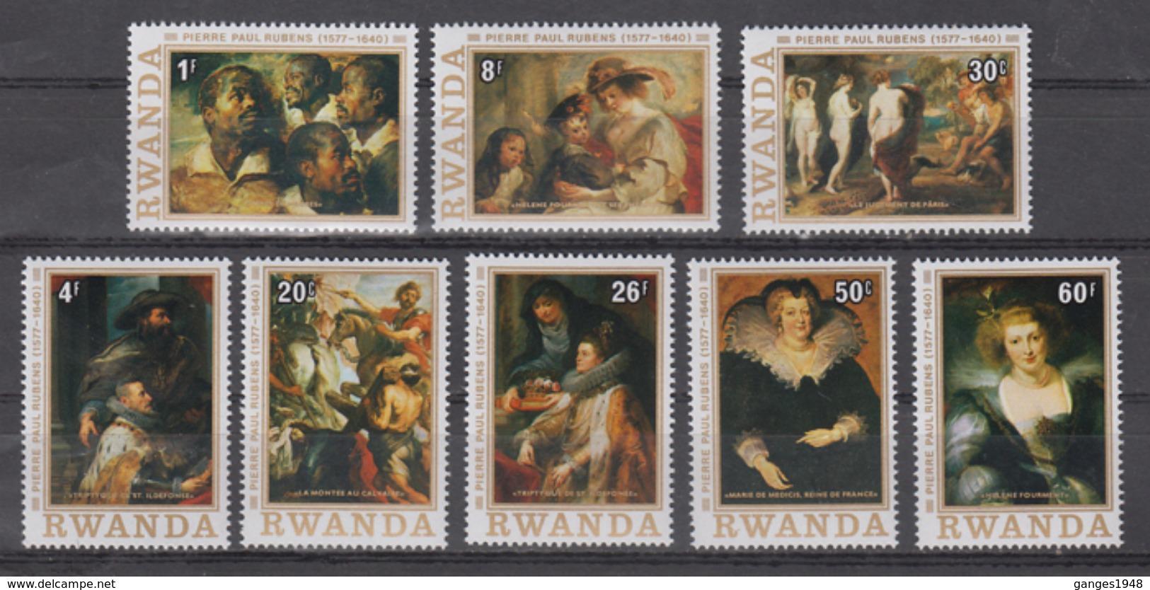 Rwanda  Rubens Paintings  8v  MNH # 65217 - Rubens