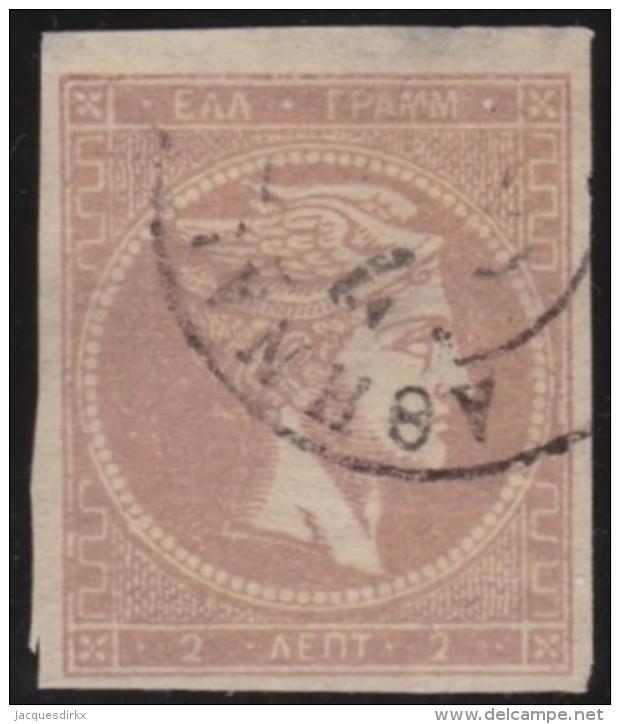 Greece    .    Yvert   .   18     .     1863-68       .   O    .   Gebruikt   .   /     .   Cancelled - 1861-86 Hermes, Groot