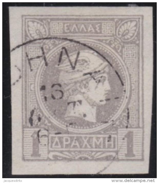 Greece    .    Yvert   .     86      .   O    .   Gebruikt   .   /     .   Cancelled - 1886-1901 Hermes, Klein