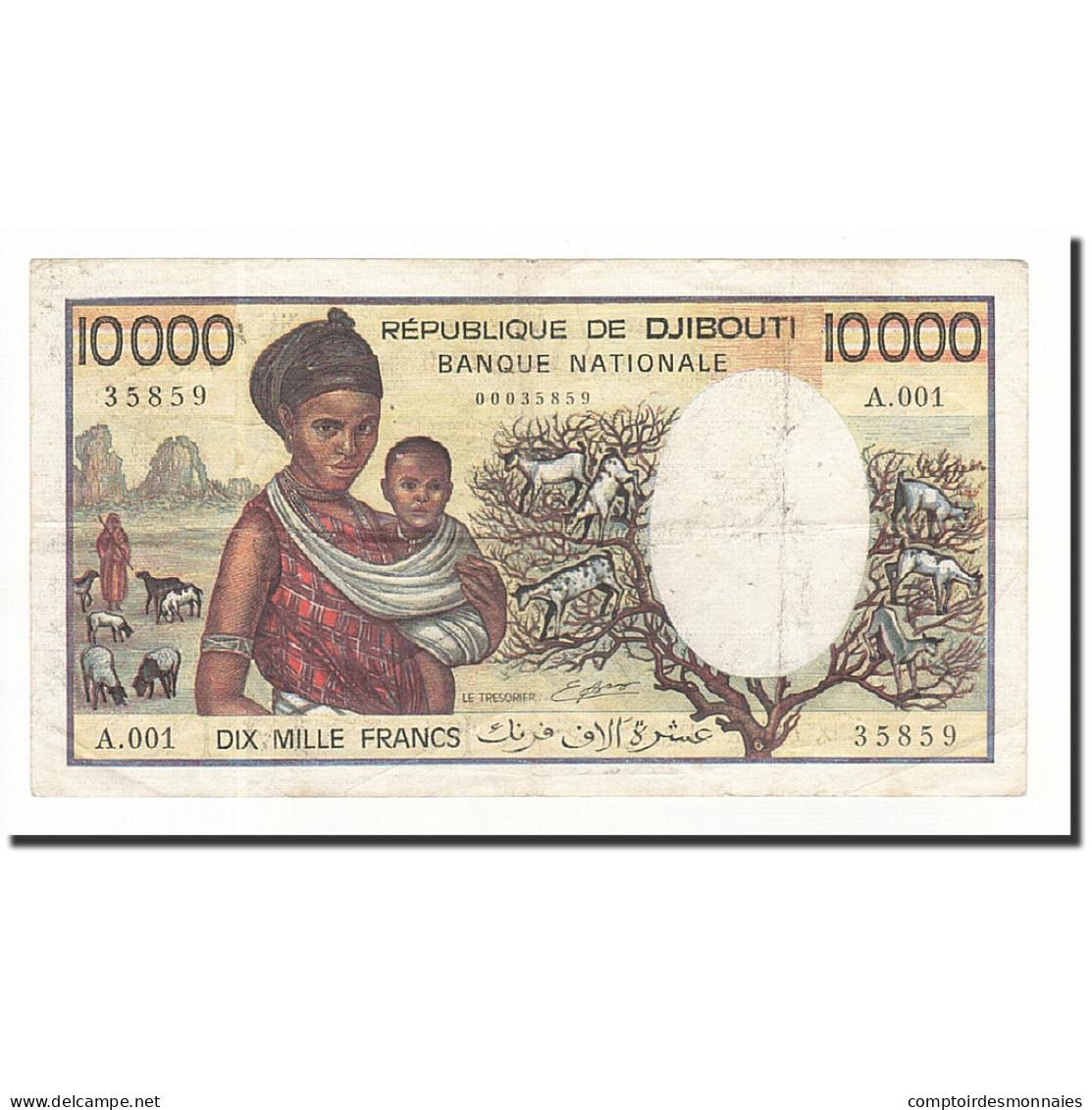 Djibouti, 10,000 Francs, 1984, KM:39a, TB - Djibouti