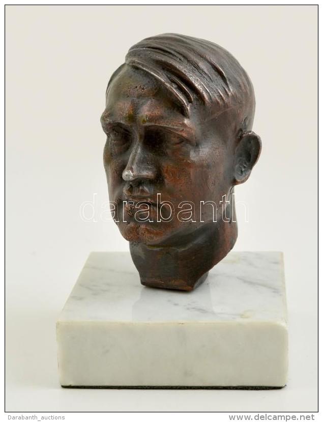 Zoll Jelzéssel: Adolf Hitler Büszt, Bronzírozott Spiáter Szobor, Márvány... - Unclassified