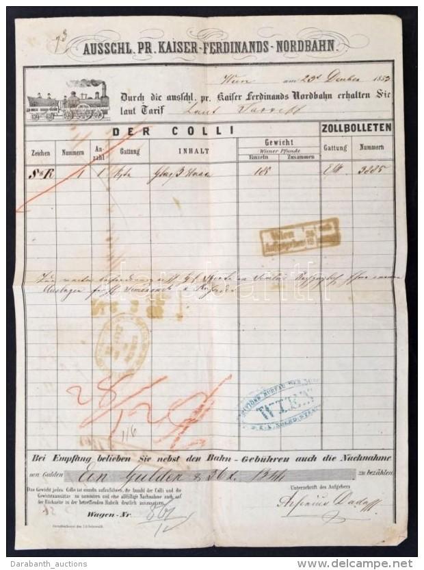 1852 Bécs (Wien), Ausschl. Pr. Kaiser-Ferdinands-Nordbahn által Kiállított... - Unclassified