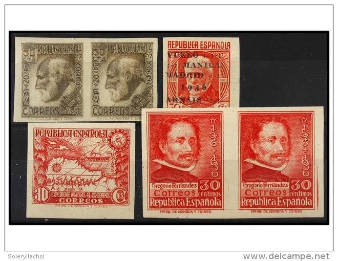 * ESPAÑA. Ed.680s (2), 694s, 726s (2), 741s. Conjunto De Sellos SIN DENTAR. MAGNÍFICOS. Cat.... - Stamps
