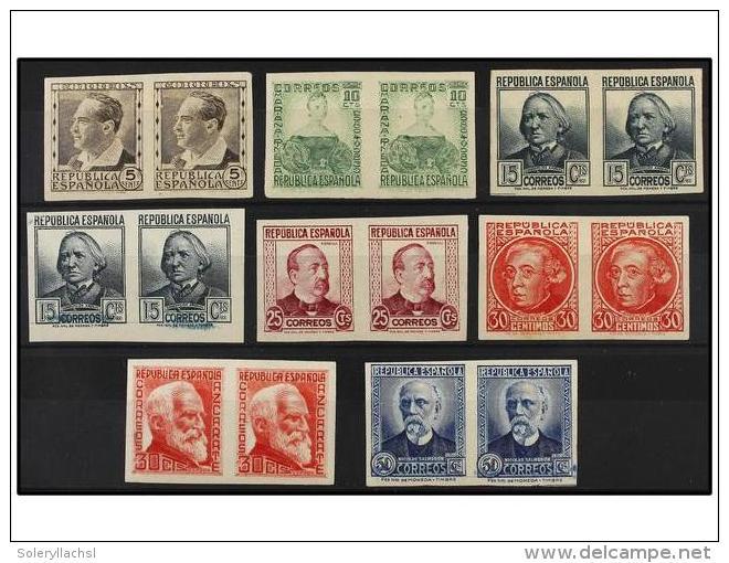 * ESPAÑA. Ed.681/88s. SERIE Completa En Parejas SIN DENTAR. Muy Bonita Y RARA. Cat. 1.050€. - Stamps