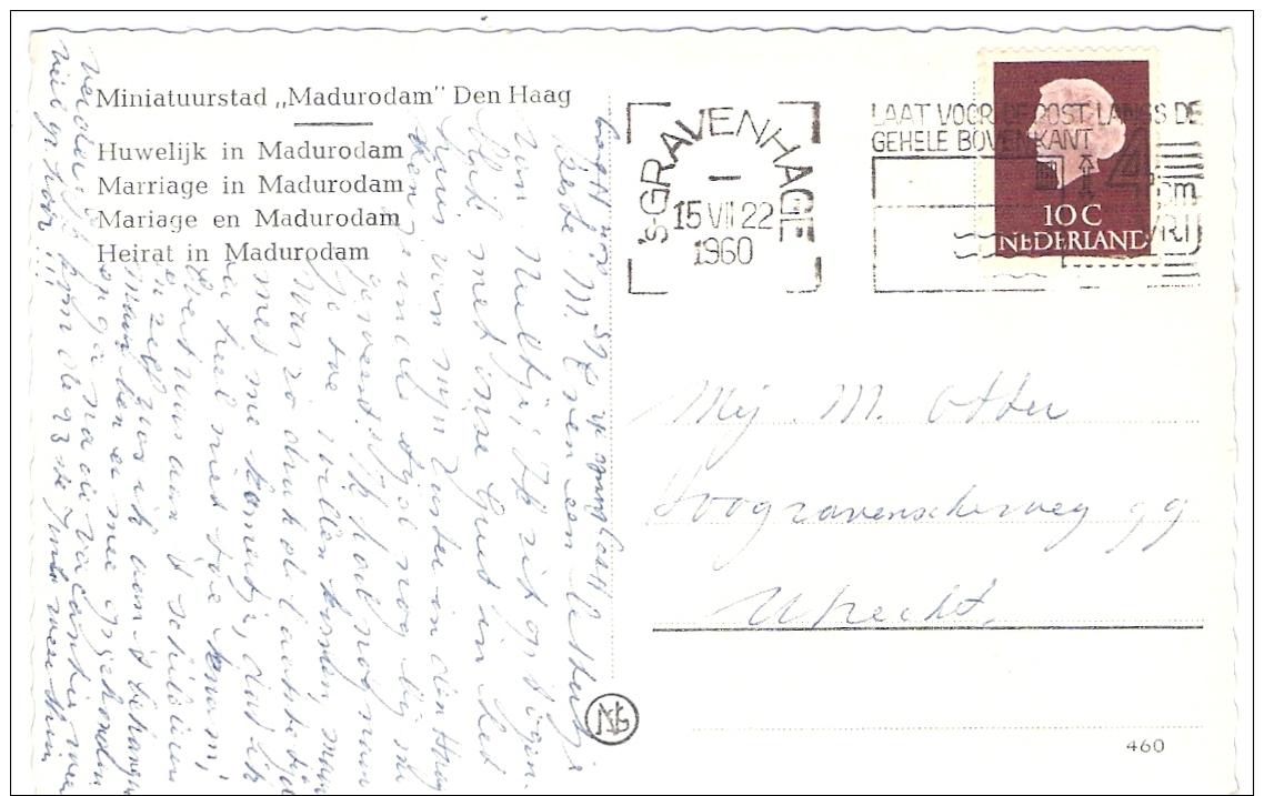 Madurodam  Huwelijk In Madurodam Met Stoet  DS19 ( Snoek) Als Trouwauto's Fotokaart 1960 - Den Haag ('s-Gravenhage)