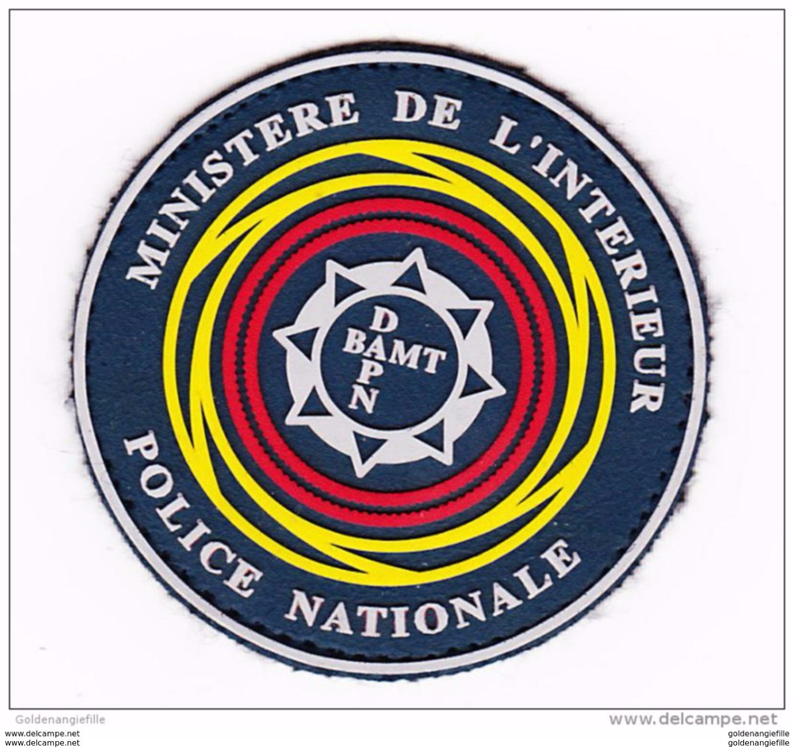 Ecusson-insigne Police Nationale Plastifié -- MI - Ecussons Tissu