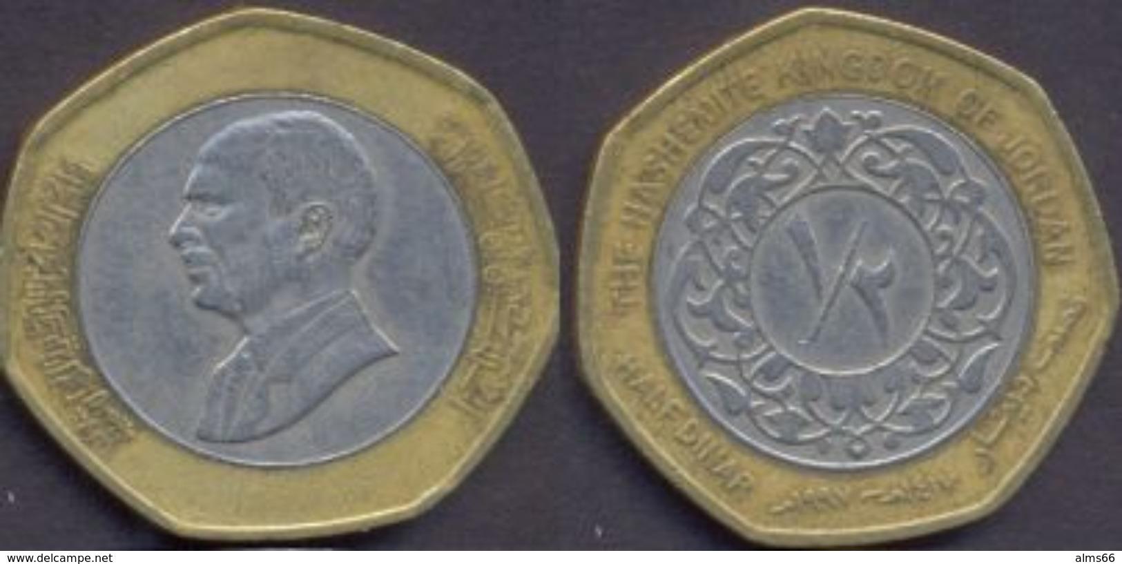 Jordan 1/2 (Half) Dinar 1997 - 1417 VF - Jordanie