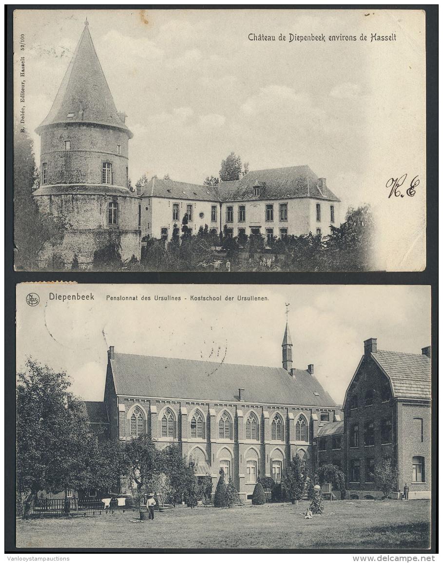 Diepenbeek, Het Kasteel En De Kerk (2 St - Belgium
