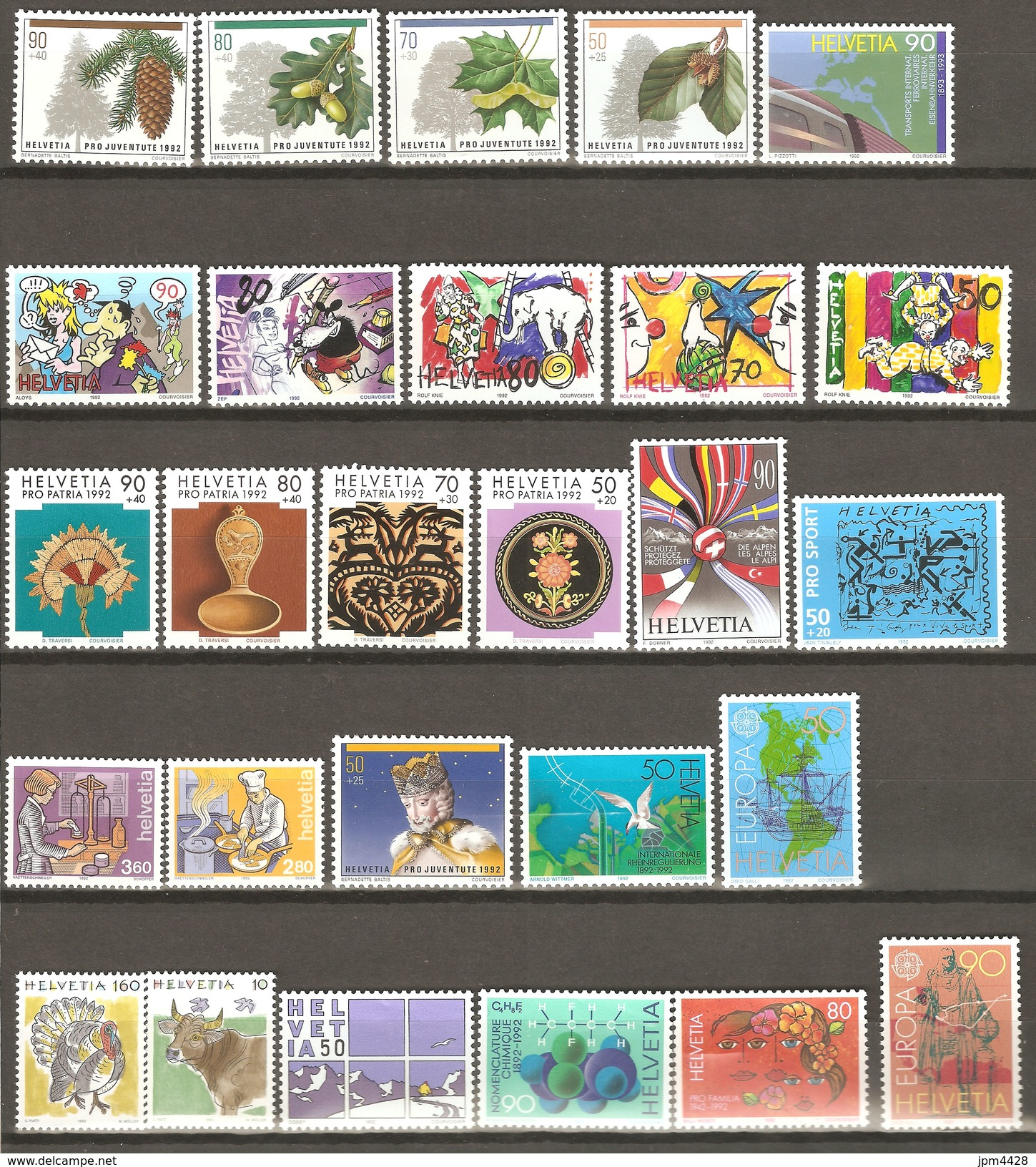 Suisse 1992  Lots De 27 Timbres  , Neufs **   Départ Petit Prix - Suisse