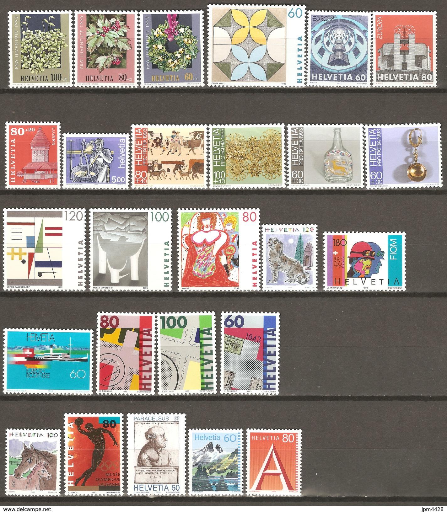 Suisse 1993  Lots De 26 Timbres   Neufs **   Départ Petit Prix - Suisse
