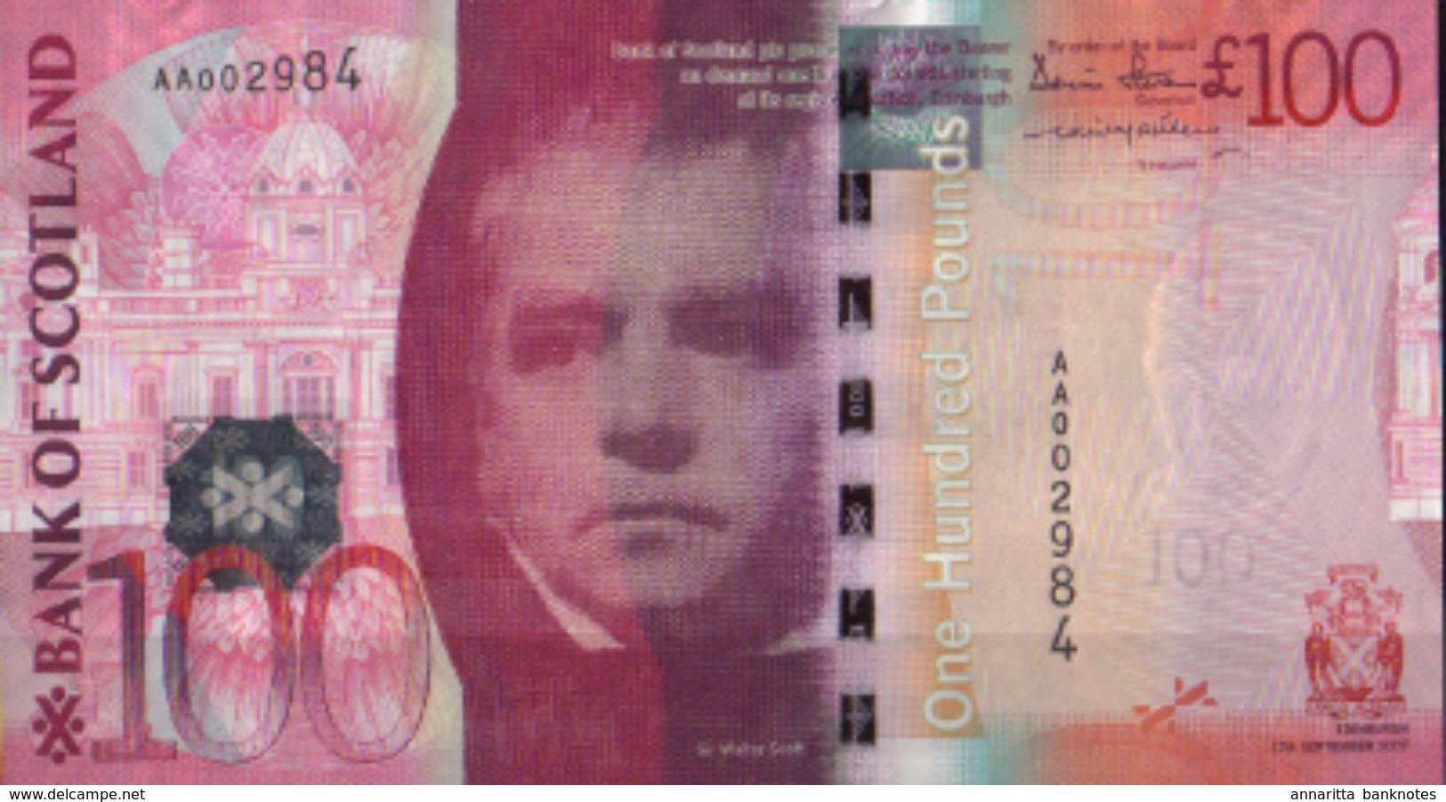 * SCOTLAND 100 POUNDS 2007 P-128a UNC [SQ128a] - [ 3] Scotland