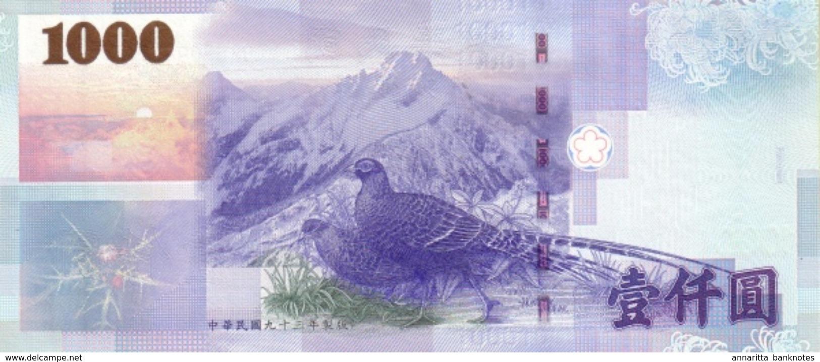 TAIWAN 1000 YUAN 2004 P-1997a UNC [TW506a] - Taiwan