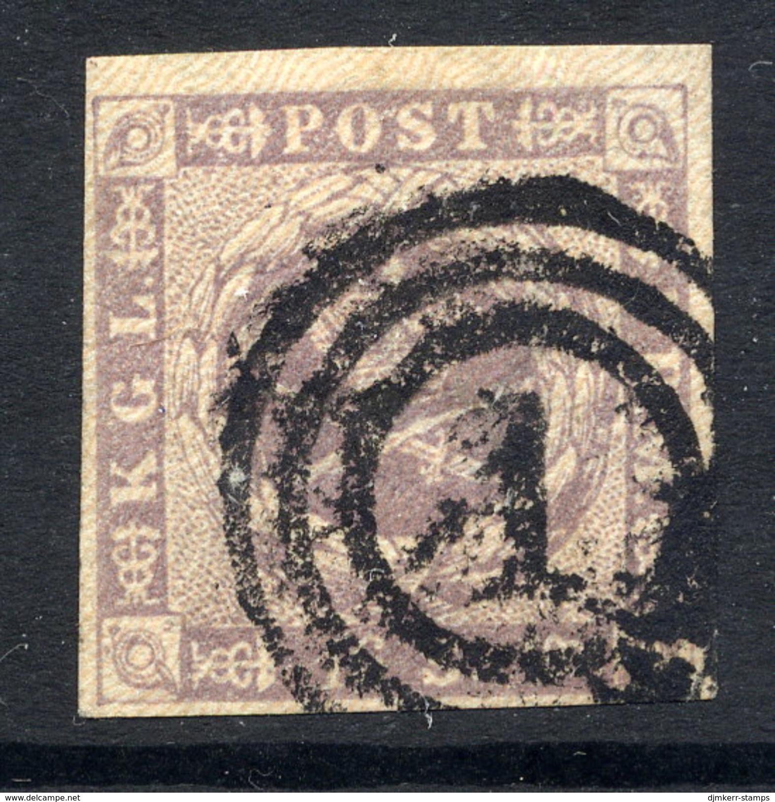 DENMARK 1857 16 Skilling Grey-lilac , Fine Used With Good Margins.  SG 13,  Michel 6. - 1851-63 (Frederik VII)