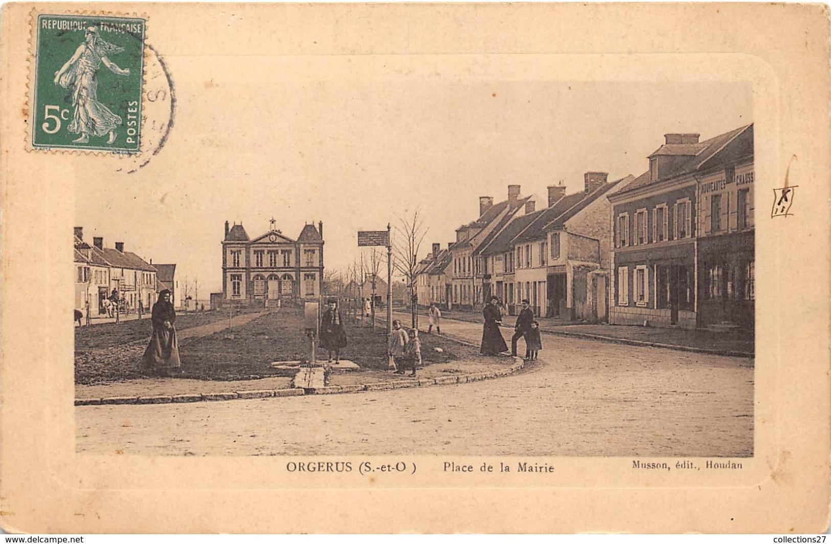 78-ORGERUS- PLACE DE LA MAIRIE - Autres Communes
