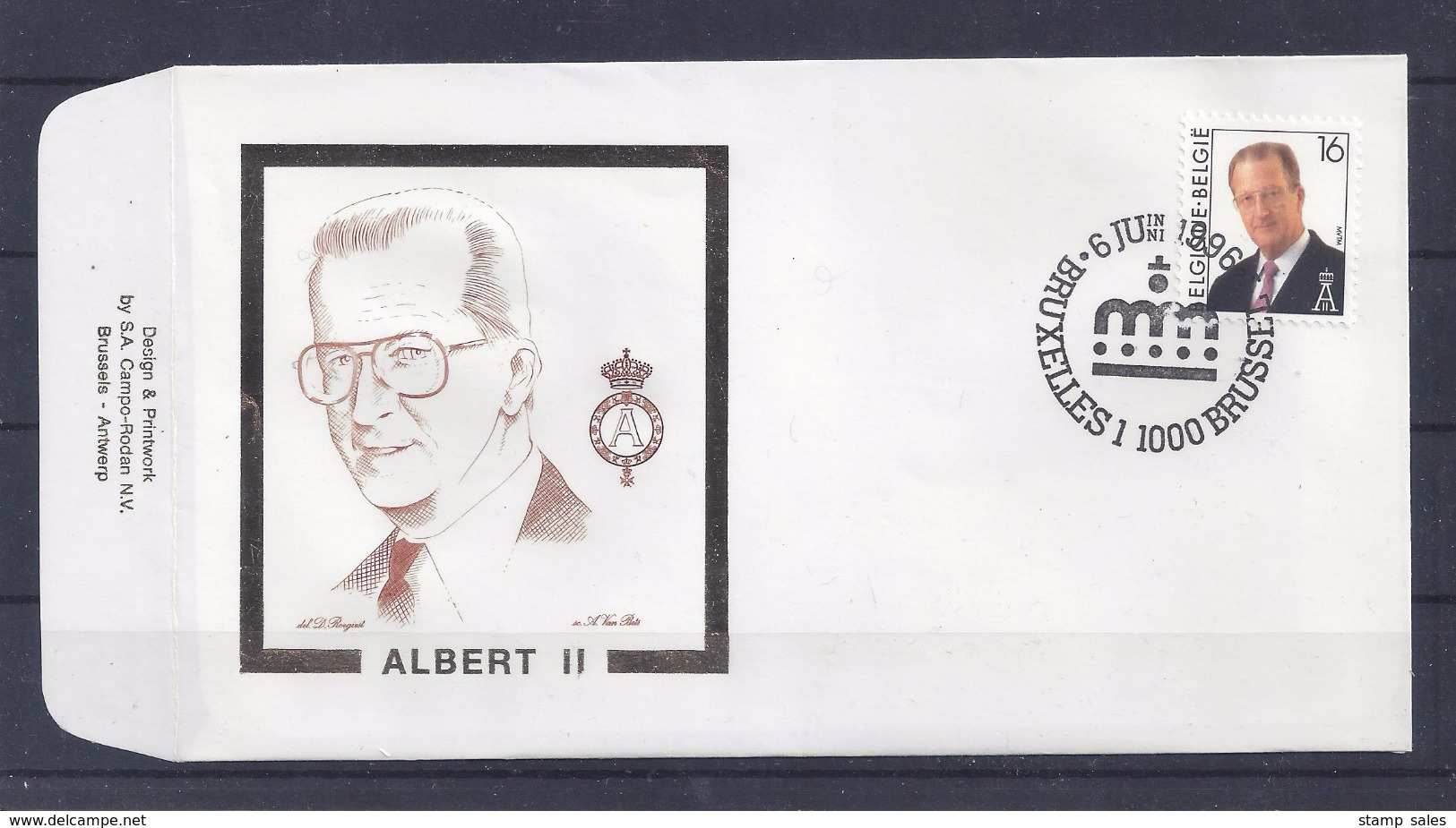 N°2639FDC GESTEMPELD Bruxelles - Brussel COB € 5,50 SUPERBE - 1991-00