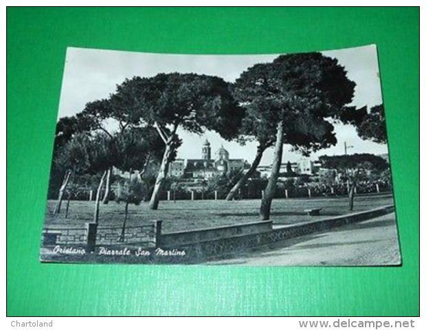 Cartolina Oristano - Piazzale San Martino 1954 - Oristano