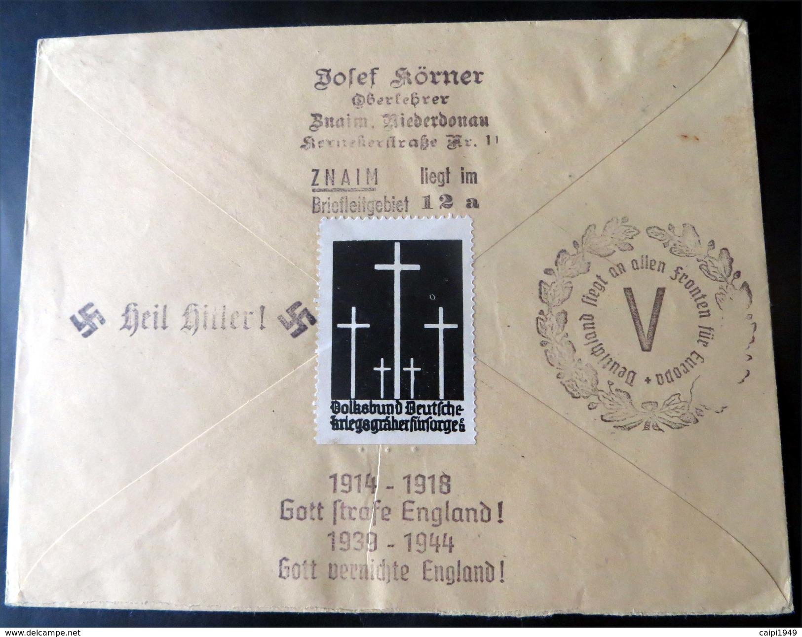 "Propaganda-R-Brief ""WIEN MESSEPALAST AUSSTELLUNG 18.2.44"" - Briefe U. Dokumente"