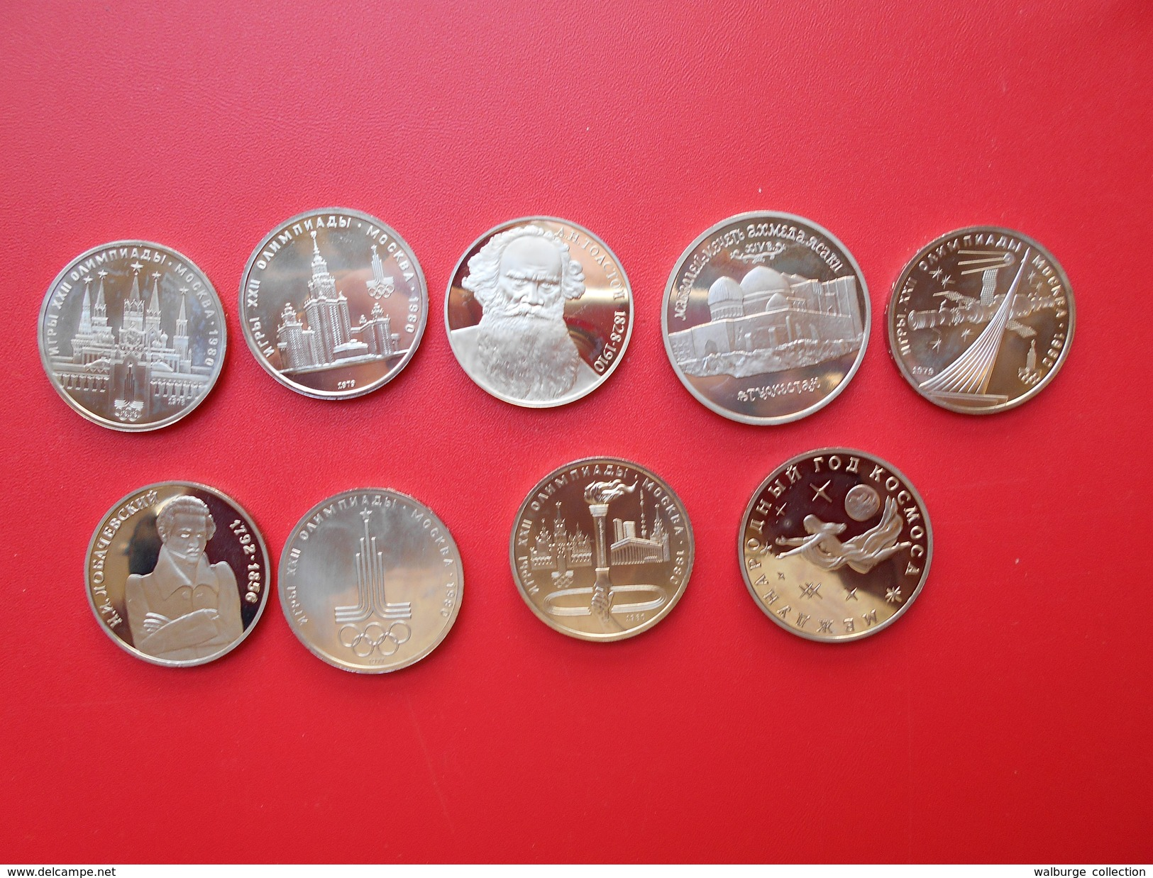 """RUSSIE MODERNE BEL ASSORTIMENT 9 MONNAIES(1-3-5 ROUBLES) QUALITE """"PROOF"""" - Coins & Banknotes"""
