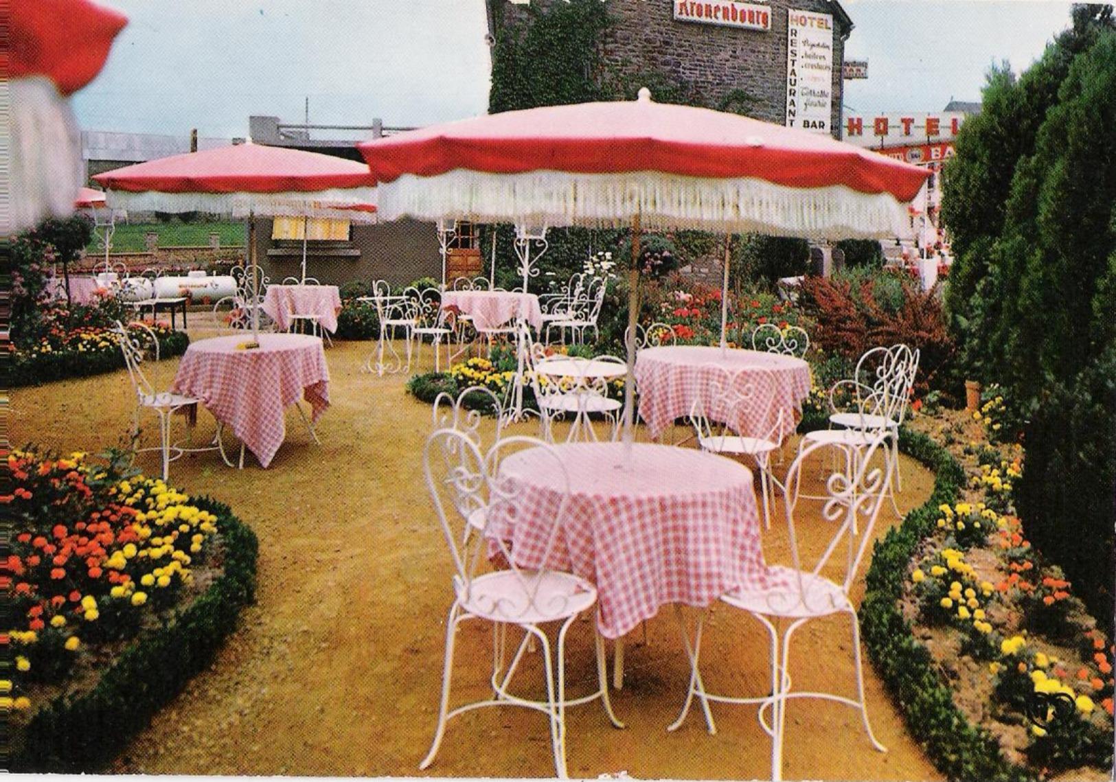 """50 - BREE PAR PONTORSON - CPM - Hôtel Restaurant """"le Sillon De Bretagne"""" - La Terrasse Fleurie - France"""