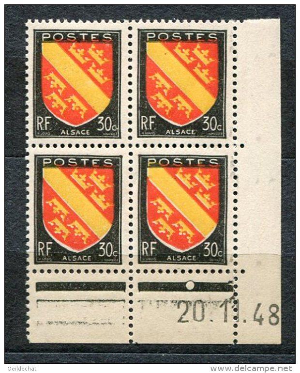 2905  FRANCE  N° 756**  Alsace  30c  Du 20/1/48   SUPERBE - Dated Corners