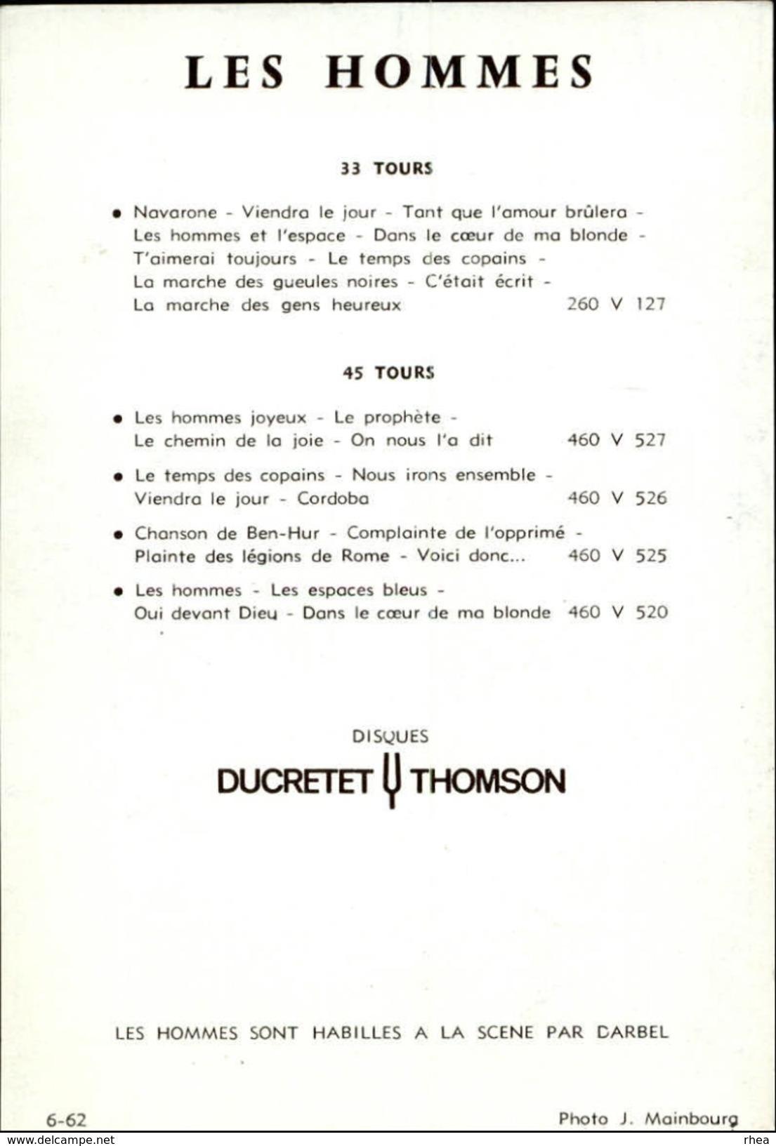 CELEBRITES - LES HOMMES - Chanteurs - Vieux Papiers