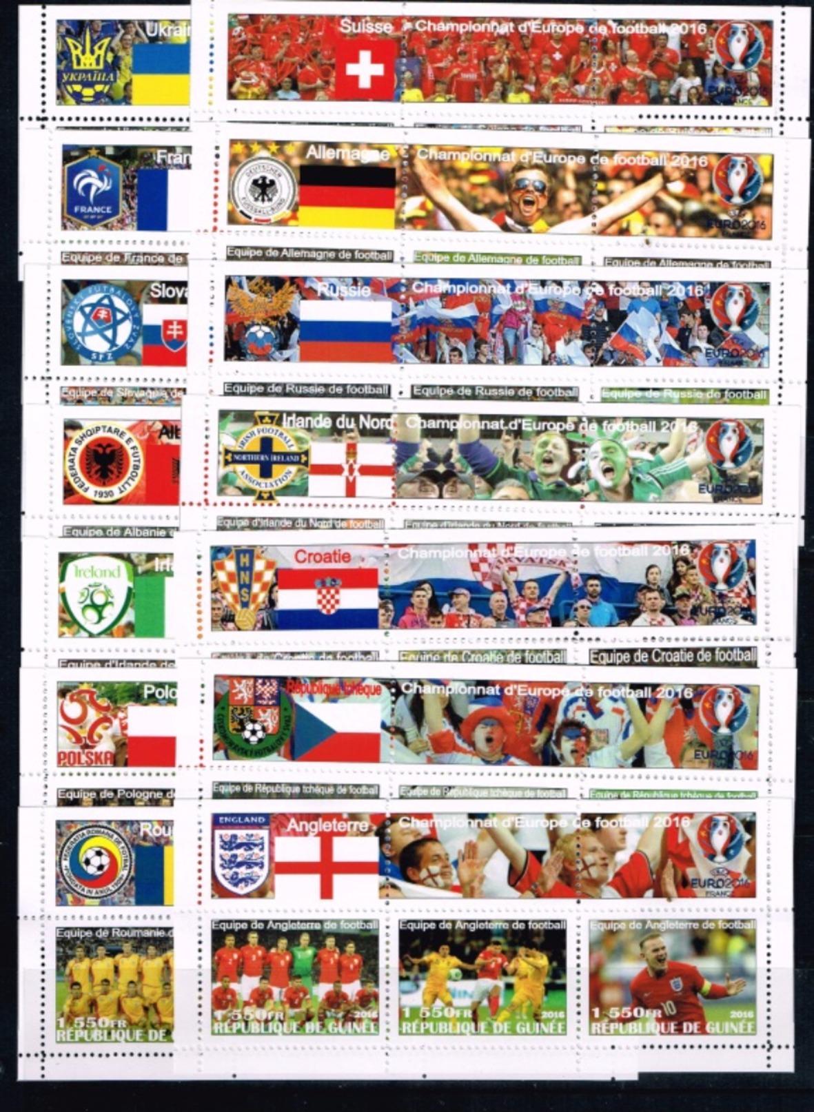 Guinea.2016 UEFA Cup.Soccer.Football.Fussball.24 KLB.2 Scans.MNH** - Eurocopa (UEFA)