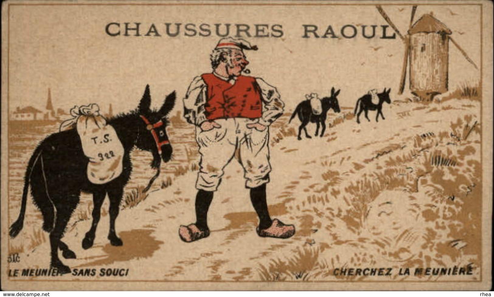 CHROMOS - Pub Pour Chaussures RAOUL à Toulouse - Moulin à Vent - Meunier - Chromos