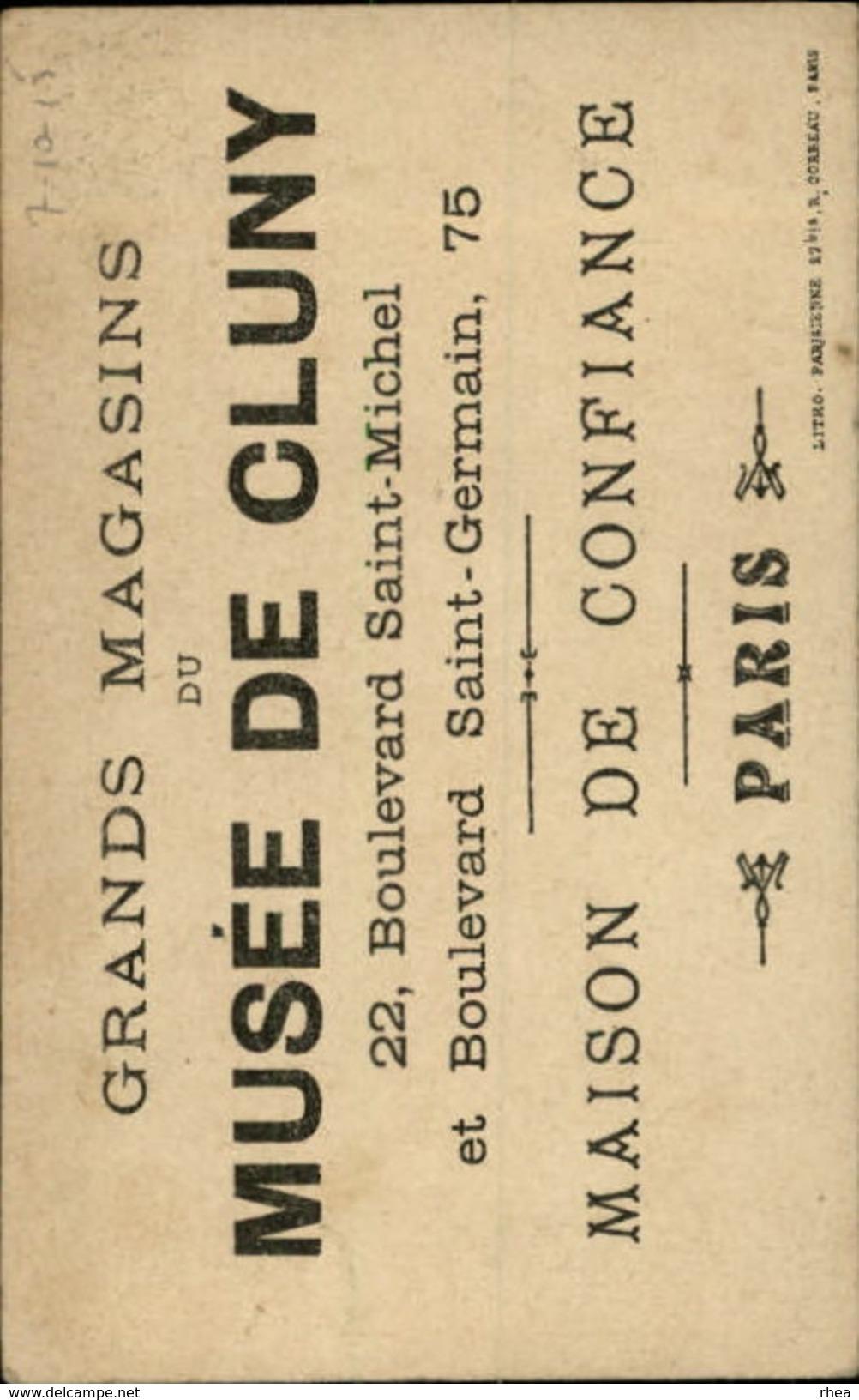CHROMOS - Pub Pour Grands Magasins MUSEE DE CLUNY à PARIS - Autres