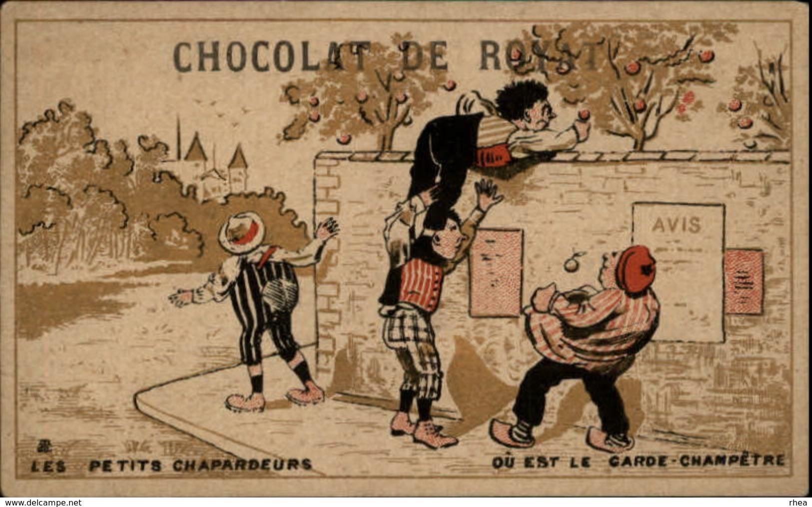 CHROMOS - Pub Pour Chocolat De Royat - Objet à Chercher - Chocolat